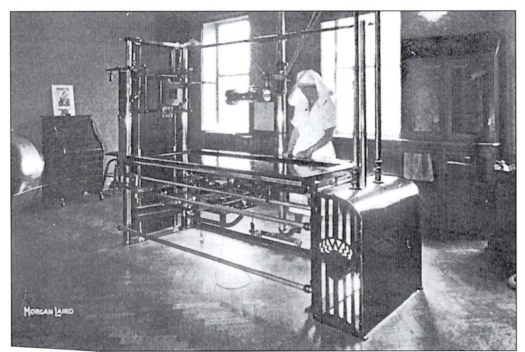 X-ray equipment installed in 1912